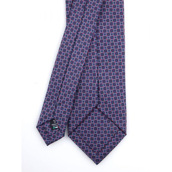 Cravatta 3 pieghe INTRECCIO con fazzoletto abbinato