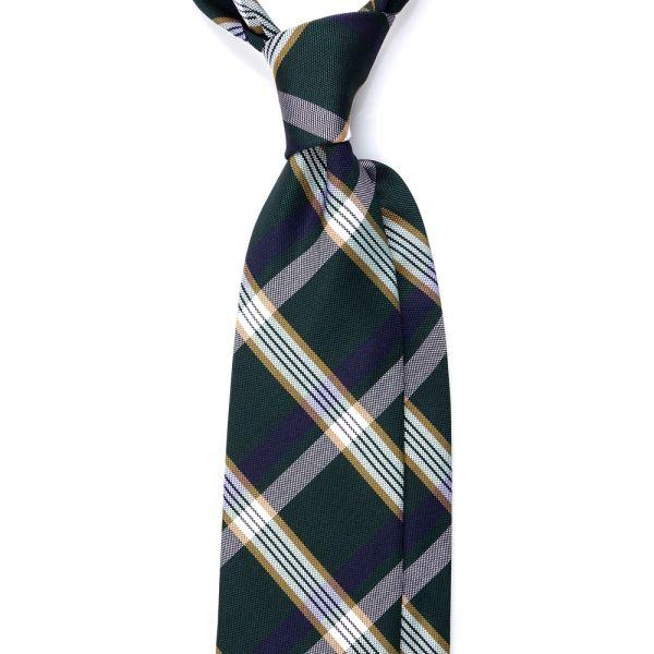 Cravatta 3 pieghe LX1608 in seta_Verde