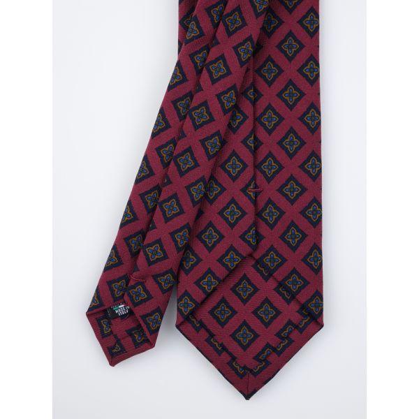 Cravatta 3 pieghe e fazzoletto da taschino in lana ASCORT