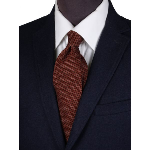 Silk/Wool 3-fold tie IVONA-Rust
