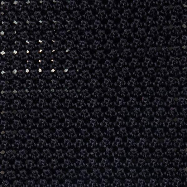 Cravatta a maglia MACCA-Nero