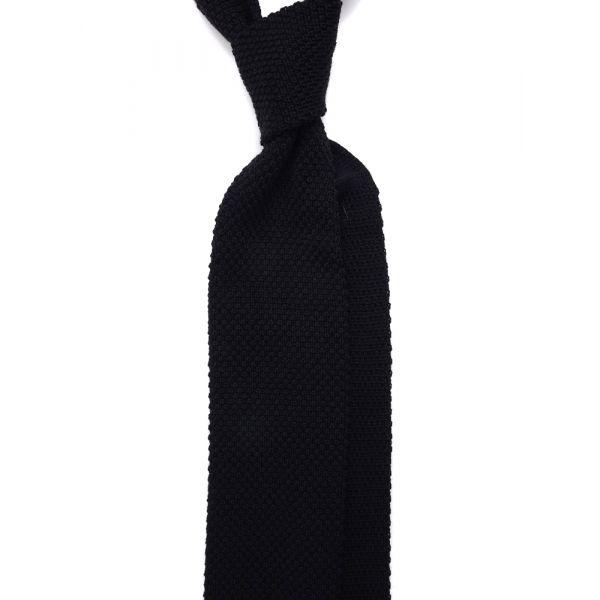 Cravatta a maglia di lana CIFERO-Nero