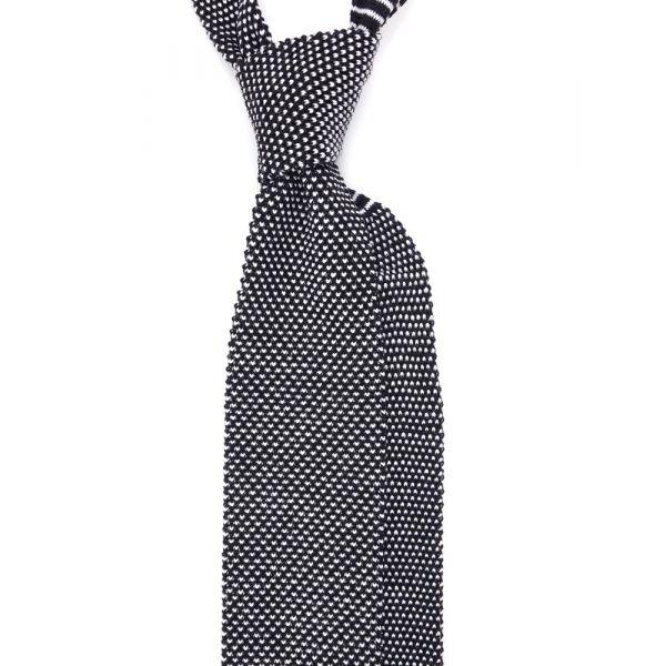Cravatta a maglia di lana MODO-Nero
