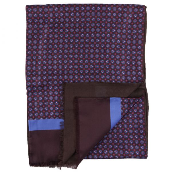 Silk/modal scarf ELLEN - Brown
