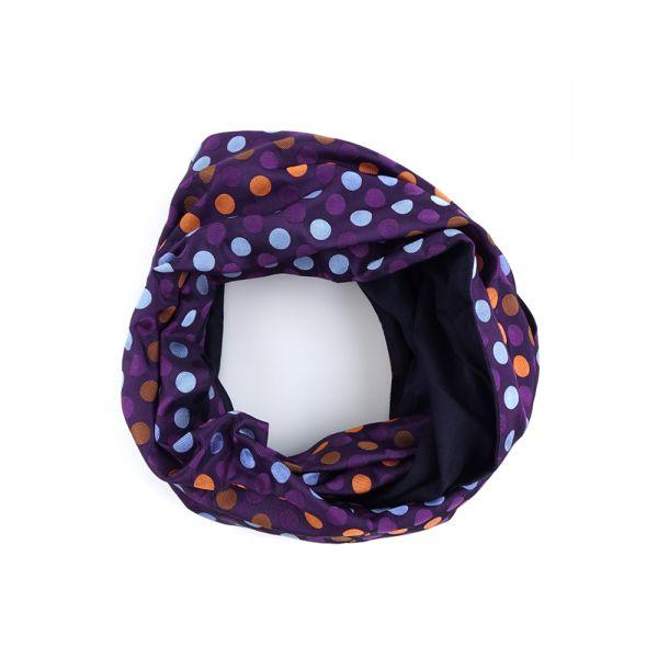Sciarpa INFINITY CLOWN in seta tessuta e lana modal - Viola