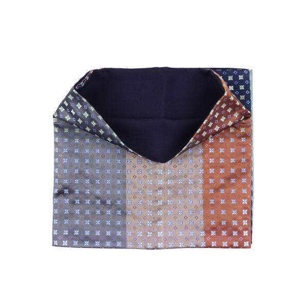 Sciarpa INFINITY ROSSELLA in seta tessuta e lana modal - Multicolor