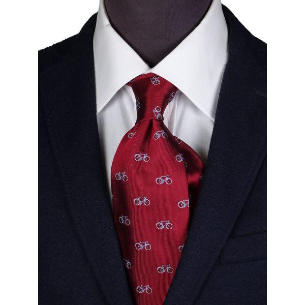 Cravatta 3 pieghe in seta BIKE