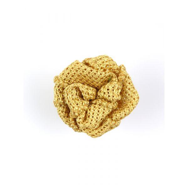 Button lapel flower ONICE - Grenadine silk-Dark beige