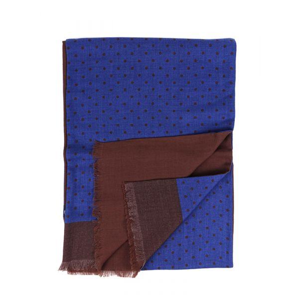 Sciarpa PALLINO in lana YAK - Blu Elettrico1