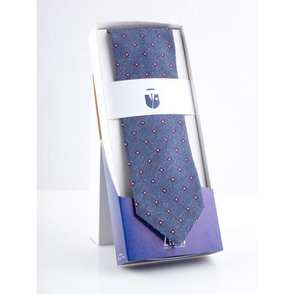Cravatta 3 pieghe in seta bourette PINTA