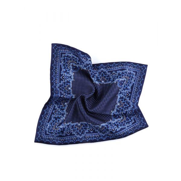 Fazzoletto da taschino doppiato BENSON-Blu