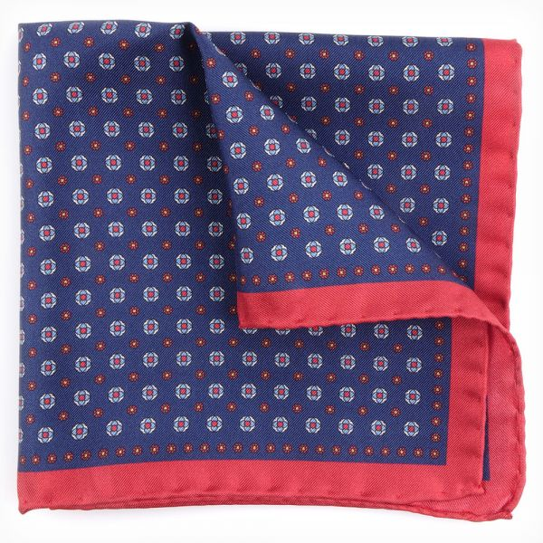 Printed silk pocket square NUCCIA