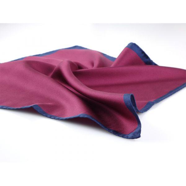 Fazzoletto da taschino Bordeaux MARA in seta stampata