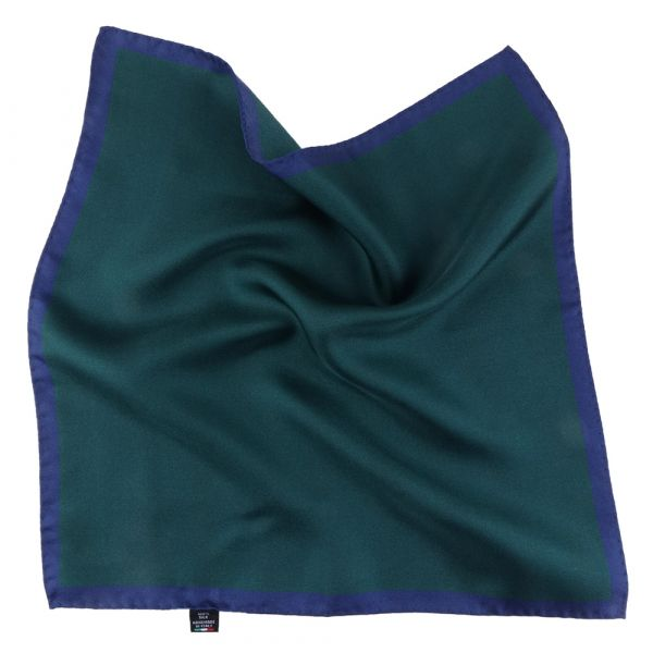Fazzoletto da taschino in seta stampata MARA - Verde