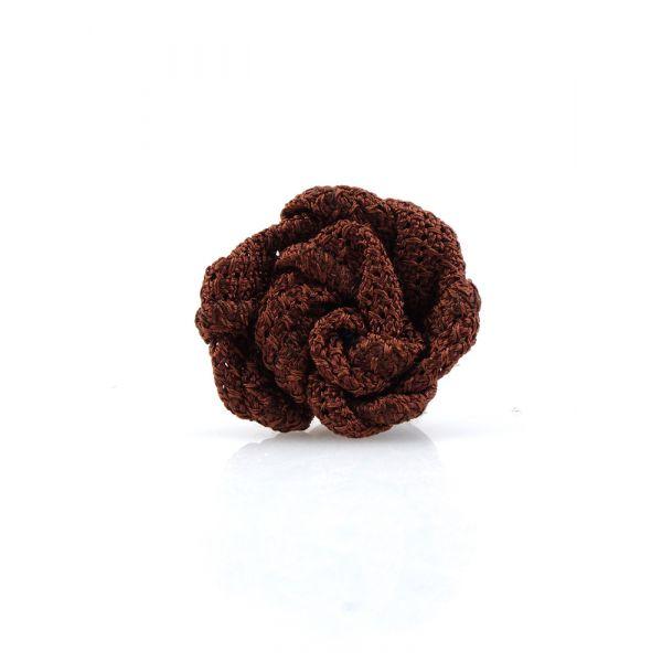 Spilla da giacca RUBINO - Garza di seta-Brown