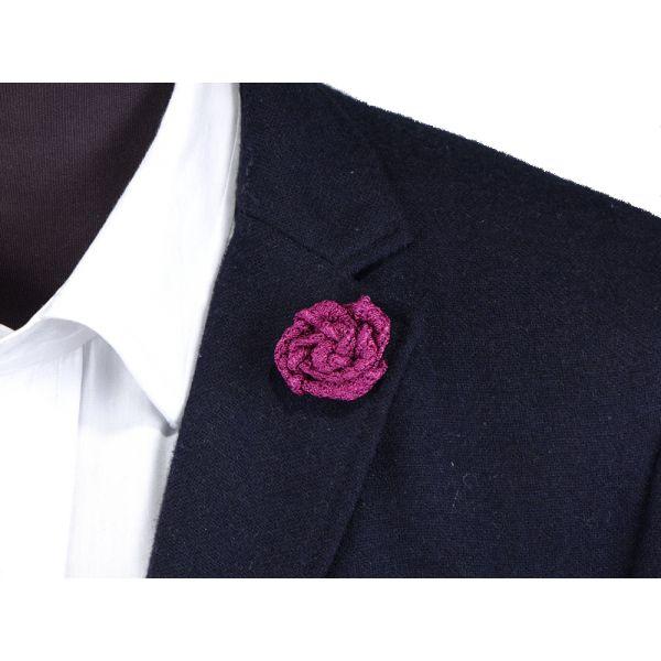 Spilla da giacca RUBINO - Garza di seta-Viola Chiaro