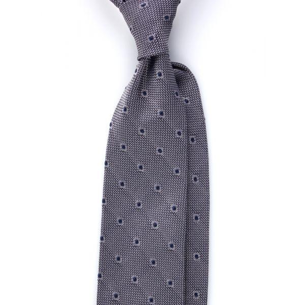Cravatta 3 pieghe TIRELLA Garza di seta - Grigia