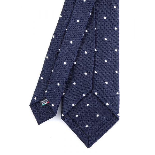 Cravatta 3 pieghe blu scuro TIRELLA Garza di seta