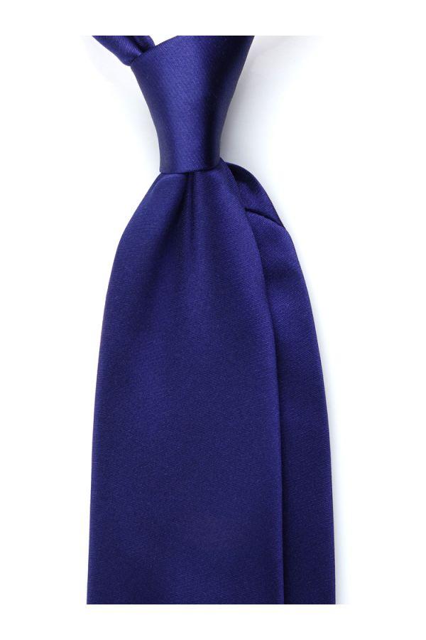 migliore vendita più recente raccogliere Cravatta 3 pieghe AMANTEA in seta raso - Blu-made in italy
