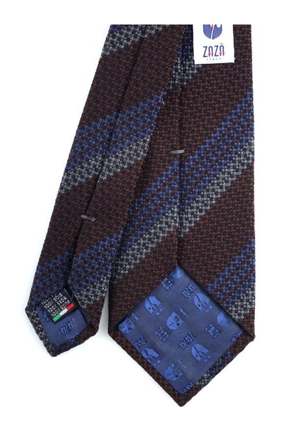 Cravatta 3 pieghe BARAMIA in seta-Marrone