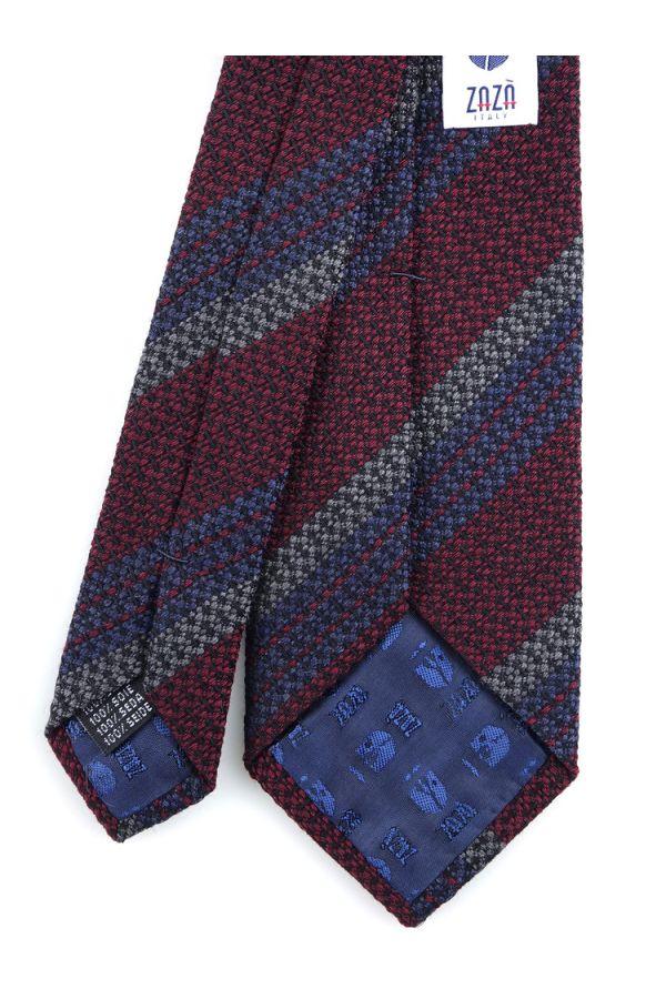 Cravatta 3 pieghe BARAMIA in seta-Bordeaux