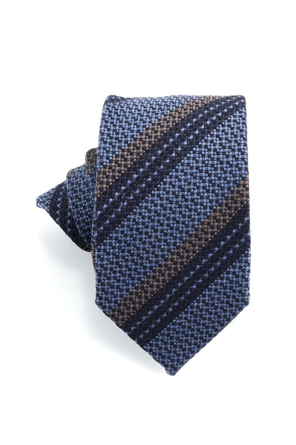 Cravatta 3 pieghe BARAMIA in seta-Jeans