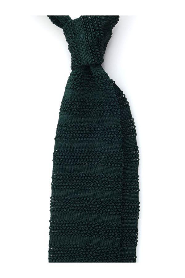 Cravatta a maglia ISCHIA-Verde oliva