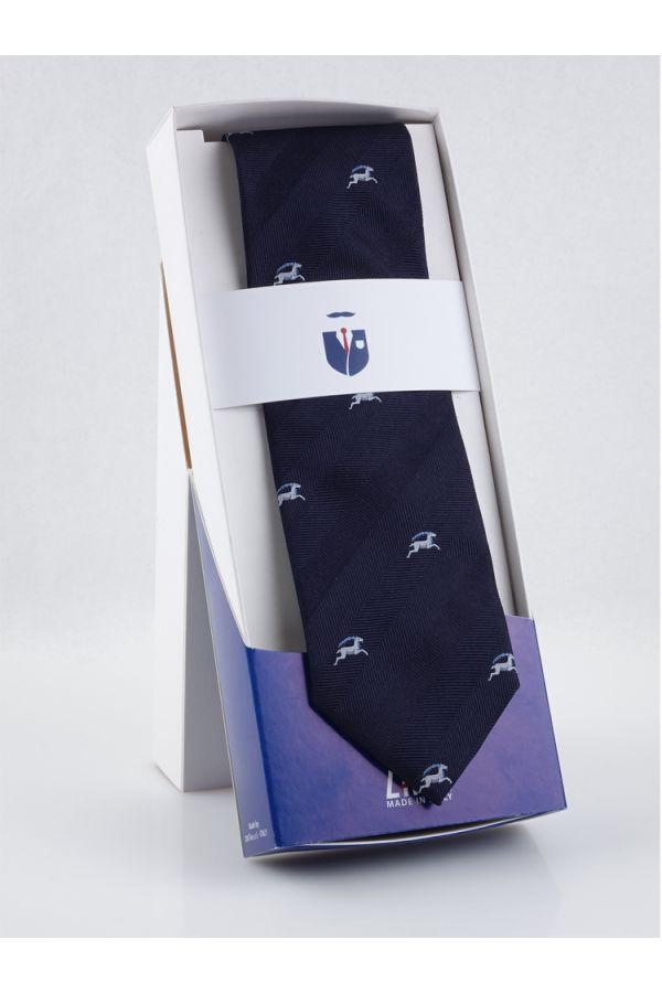 Cravatta 3 pieghe in seta ZODIACO-Capricorno