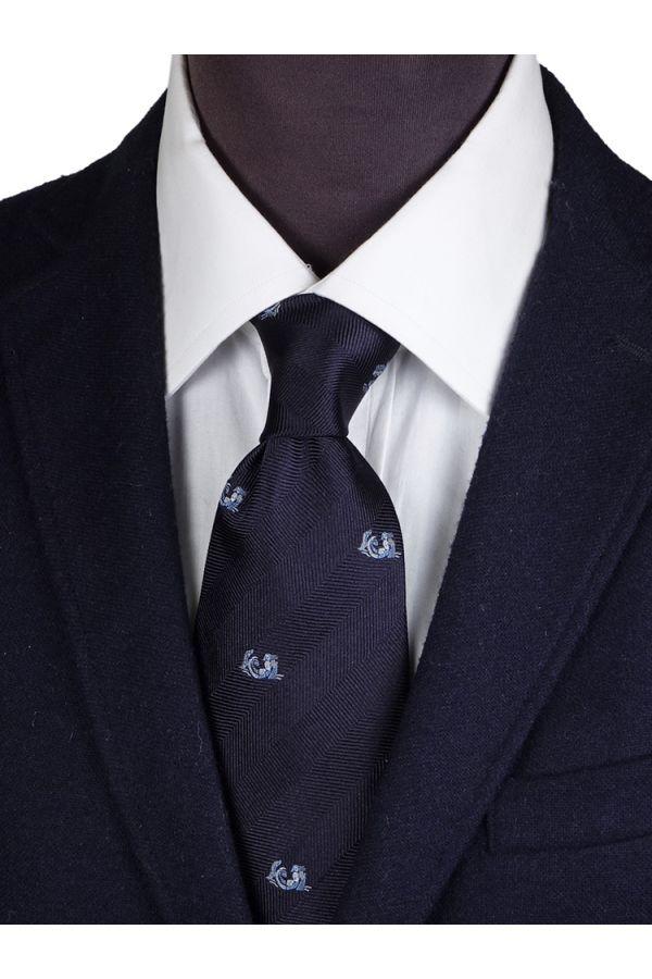 Cravatta 3 pieghe in seta ZODIACO-Acquario