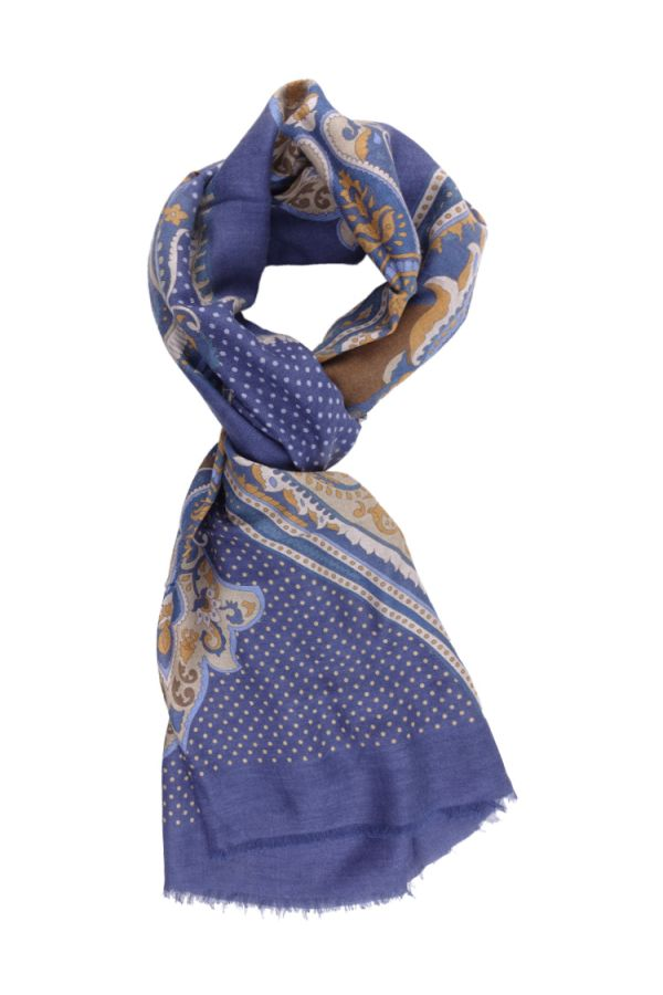 Sciarpa in lana STOCCARDA-Blu