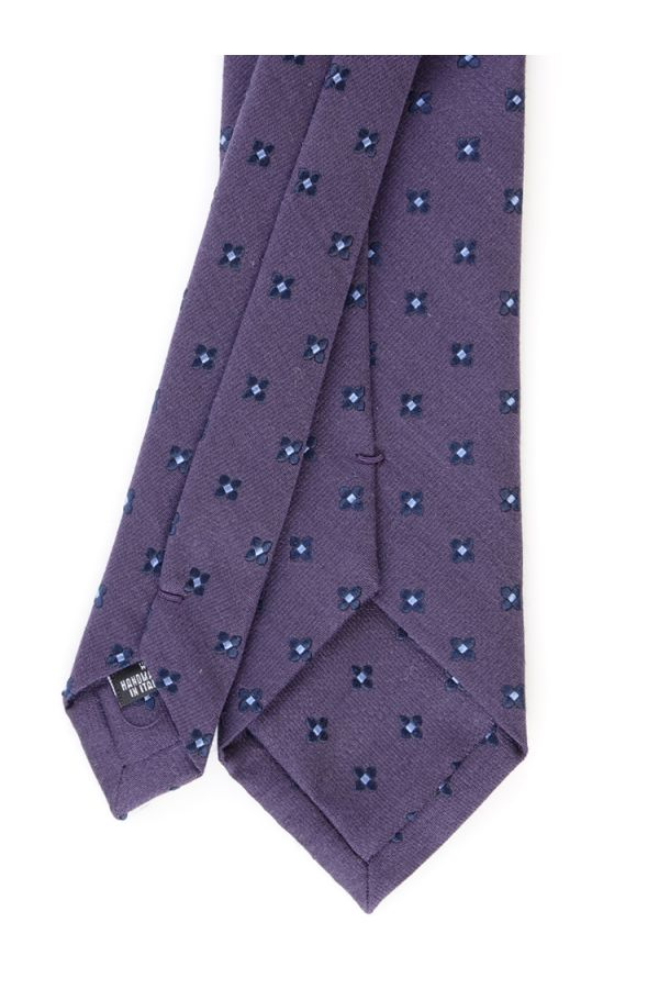 Silk/Wool 3-fold tie GRETA-Violet