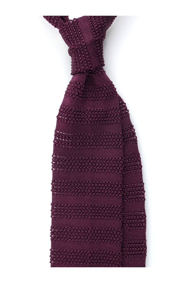 Cravatta a maglia ISCHIA-Bordeaux