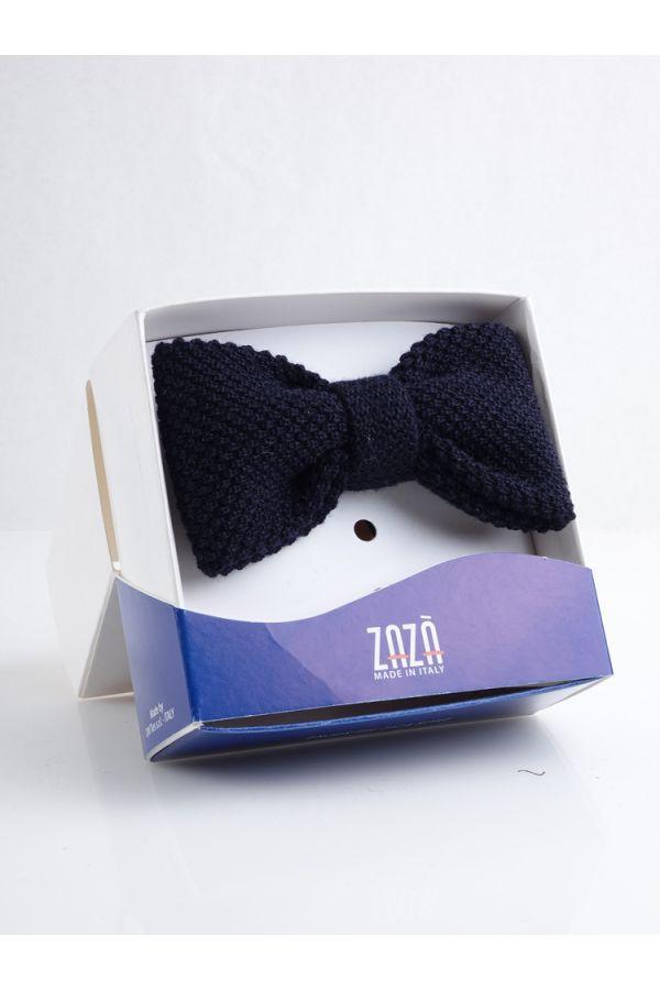 Wool Pre Tie Bow Tie CIFERO - Navy Blue