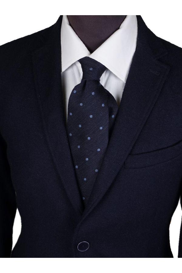 3-fold tie POISSE-Blue