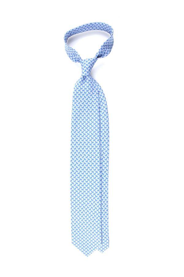 Cravatta 3 pieghe YORKSHIRE-Celeste