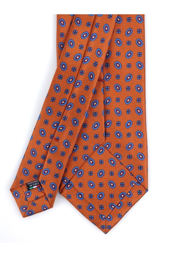 Cravatta 3 Pieghe COMO in seta lusso - Arancione