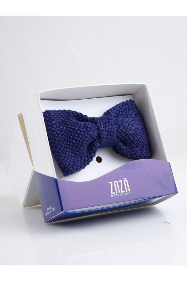 100% Wool Pre tie Bow Tie CIFERO - Blue