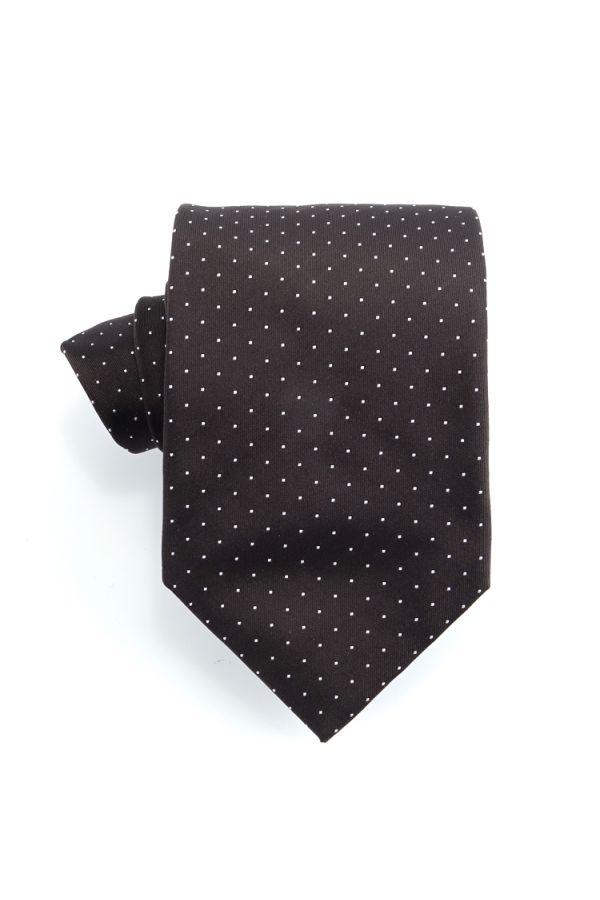 Cravatta 3 pieghe BIRBA in seta-Marrone
