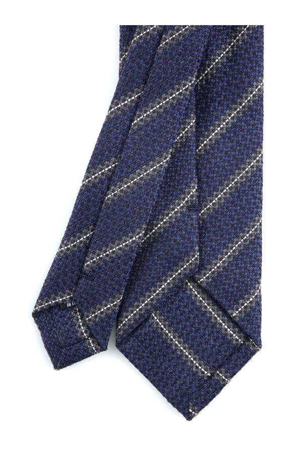 Cravatta 3 pieghe BORA in seta-Blu