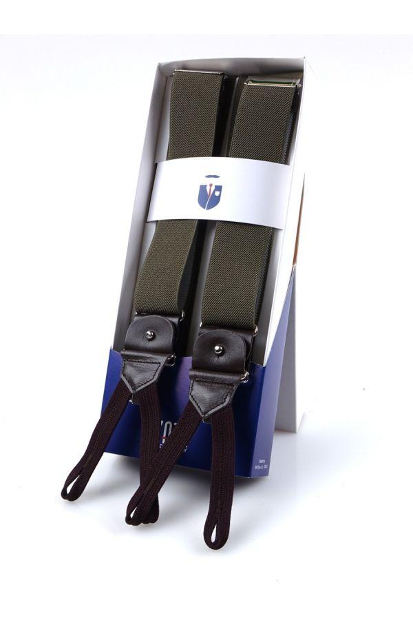 Bretella a Y in elastico con lacci e clip ELASTIC _ Verde Chiaro