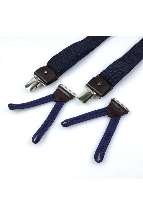 Bretella a Y in tessuto con lacci e clip CASUAL _ Blu
