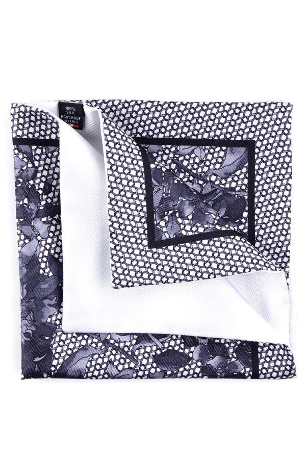 Fazzoletto da taschino doppiato CHIHIRO - Nero/Bianco