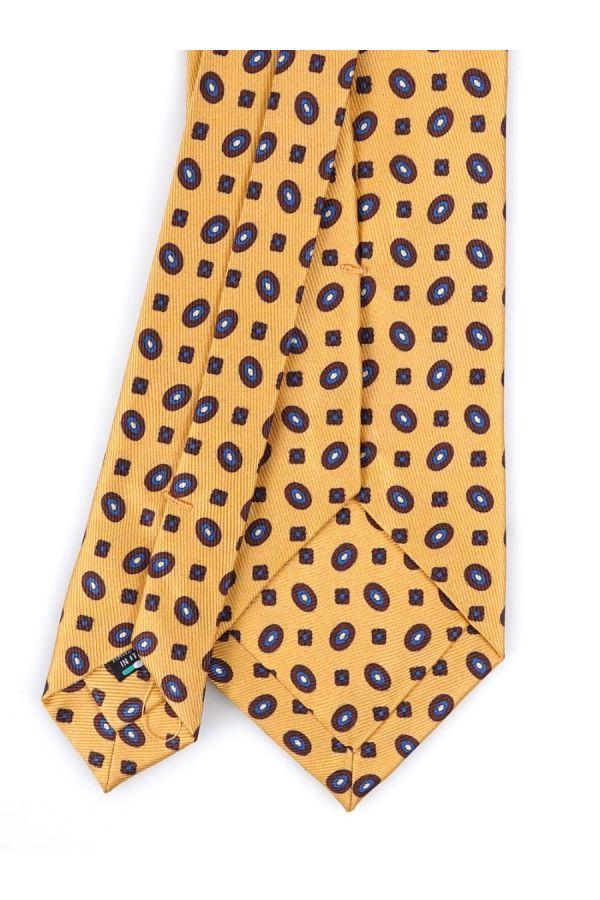 Cravatta 3 Pieghe COMO in seta lusso - Giallo