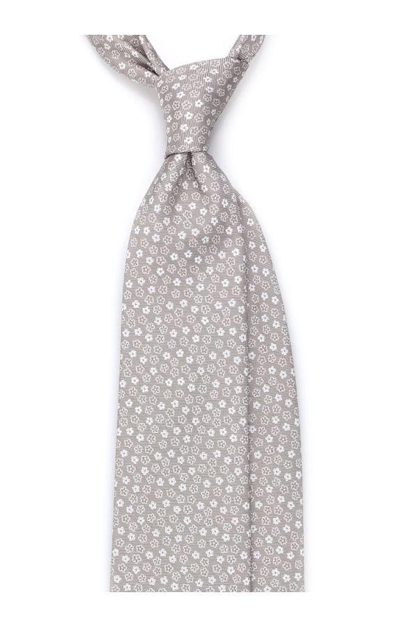 Cravatta 3 pieghe MIRTILLA in seta TESSUTA - Beige