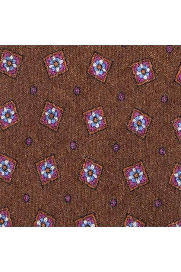 Cravatta 3 pieghe in flanella di lana JESSI - Marrone Chiaro