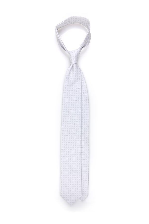 Cravatta 3 pieghe in seta PERLA - Grigio chiaro