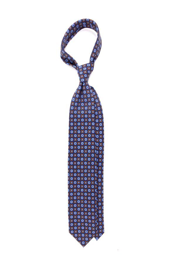Cravatta 3 Pieghe EDDA Seta madder-Blu
