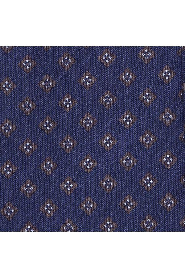 Cravatta 3 Pieghe PUNTA  in seta tessuta - Blu