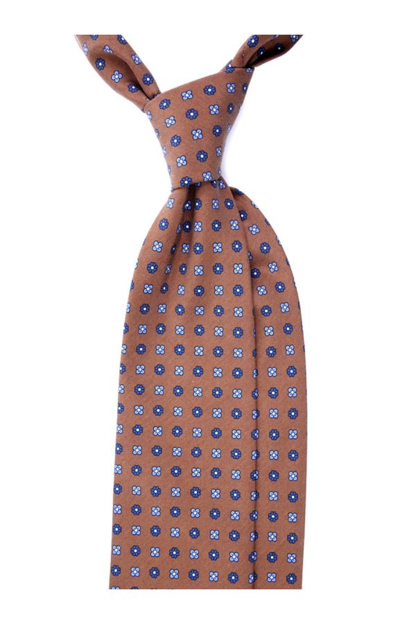 Cravatta 3 Pieghe CARACAS Seta madder - Marrone