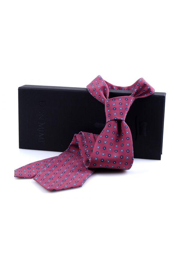 Cravatta 3 Pieghe CARACAS Seta madder - Bordeaux